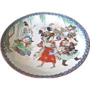 SALE Large Japanese Porcelain Charger of the 7 Lucky Gods of Japan