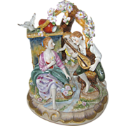 SALE Large Richard Klemm Figural Group Porcelain Statue - Germany