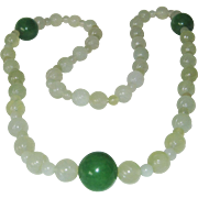 SALE Jade Necklace With 3 Large 20MM Jade Beads