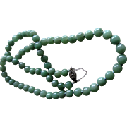 SALE Hand Knotted Jade  Necklace