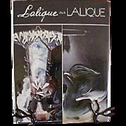 """REDUCED Monograph Book """"Lalique par Lalique"""" Marc & Jean Claude Lalique Signed"""