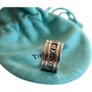 REDUCED Vintage Tiffany & Co Wide Atlas Collection Sterling Ring
