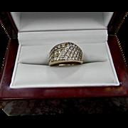 Estate 14K Gold Diamond Anniversary Ring