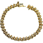 REDUCED Estate Ladies 14K Gold 3.5 Carat Diamond Tennis Bracelet