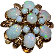 REDUCED Retro 18kt Gold Fiery Opal Princess Harem Ring