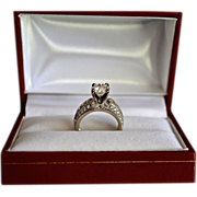 REDUCED Victorian Style Two-Tone 14K Gold European Cut 2 Carat Diamond Ring