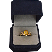 Estate offering 2.84 Carats Sapphire & Diamond 14K Gold Ring