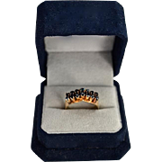 REDUCED Victorian 18K Etruscan Revival Style Sapphire Ring