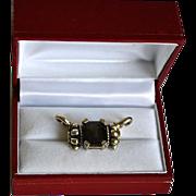 SALE Caviar 18K Gold, Sterling & Quartz Necklace Enhancer