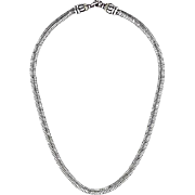 SALE CAVIAR (lagos) Sterling Silver Snake Chain Necklace with 18K Gold accent
