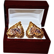 REDUCED Christian Lacroix 18K Gold Plate Old World Baroque Earrings