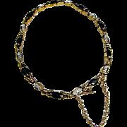 Estate Sapphire 14kt Gold Diamond Tennis Bracelet