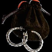 SALE John Hardy Sterling Silver Open Leaf Hoop Earrings