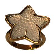 LALIQUE Beguiling Oceania Star 18k Gold Plate Ring