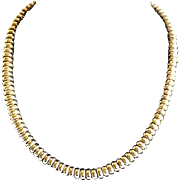 REDUCED Vintage 1980's Caviar Lagos Sterling Chunky Cable Necklace