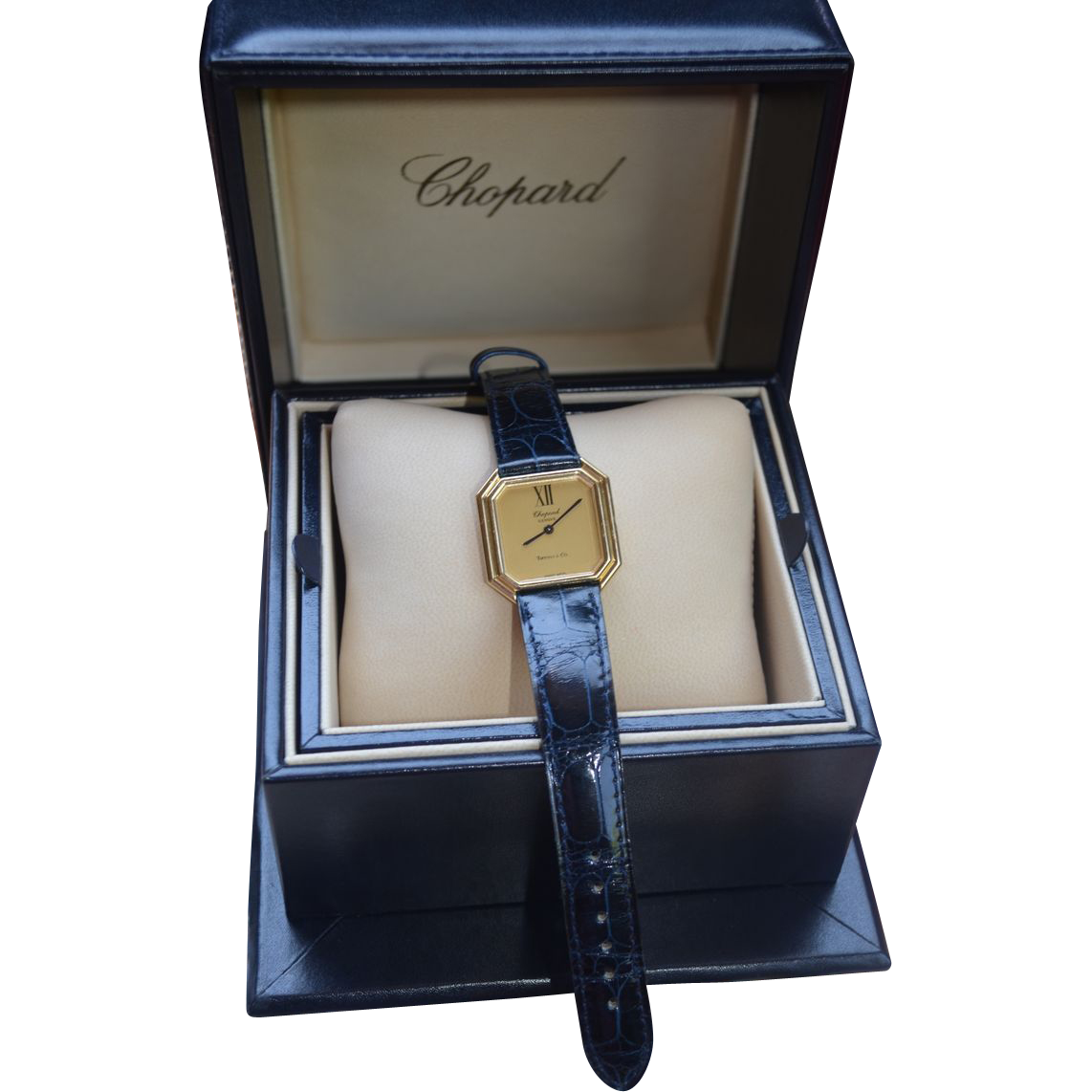 Tiffany & Co / Chopard 18K Gold  Hexagon Deco Inspired Watch