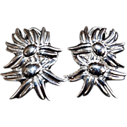 Vintage Tiffany & Co Double Marigold Sterling Earrings