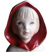 SALE 1973 CYBIS FIGURINE: Little Red Riding Hood Porcelain Collectible