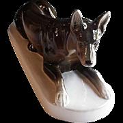 SALE ROYAL DUX Fine Porcelain Large German Shepard Figurine Hallmarked