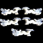SALE Chinese Porcelain Blue White Dragon Chopstick Rests