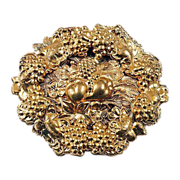 Unusual brooch from the late 1930's floral design