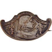 Small French Jeanne D Arc  (Joan of Arc ) souvenir scatter pin