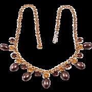 lovely rhinestone choker necklace Amber & Citrine stones