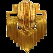 Art Deco gold tone 1940's dress  clip