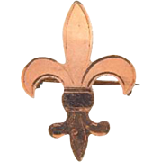 Small gold filled fleur de lis Watch Pin