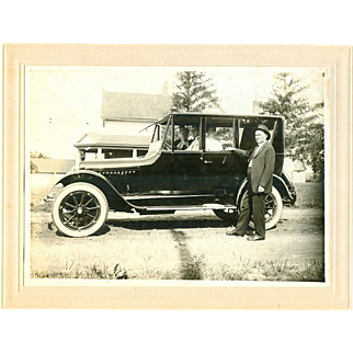 Fabulous! 1910s Cabinet Photo Ford Model T Automobile!