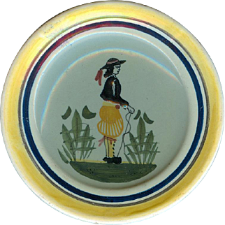 Small Henriot Quimper Plate From Brittany, France!
