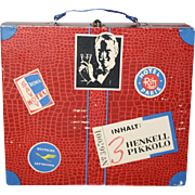 Darling Vintage 1940s Suitcase For Doll Goodies!