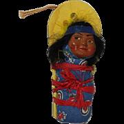 Vintage 1940s Skookum Native American Mailer Doll!