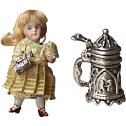 Mini Doll Sized Mignonette Sterling Silver Stein!