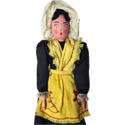 Charming Vintage c1940s Wooden Doll from Belgium Belgique!