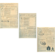 Vintage 1920s Bleuette Doll Original Patterns - Semaine de Suzette