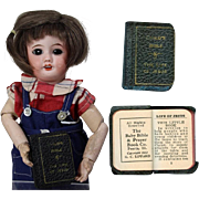 Darling 1932 Doll Sized Bible! Great for your Nun Doll!