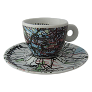 illy Rauschenberg Espresso Cup/Saucer Berlin Mexico City