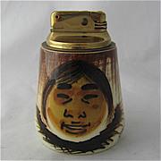 Ca 1950 Sascha Brastoff Table Lighter Alaska Series