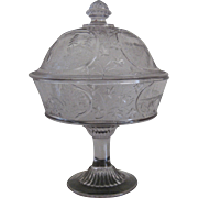 """1870 EAPG """"Canadian"""" Pattern High Standard 11.5"""" Covered Compote"""