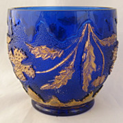 """Delaware"" Pattern Spooner/Sugar Bowl Cobalt Blue Gilt Taiwan Reproduction"