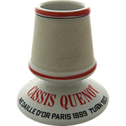 SOLD Vintage French Advertising Match Holder w/ Striker Cassis Quenot Liquor