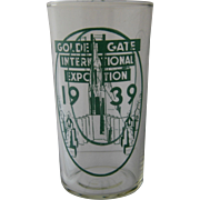 1939 Golden Gate International Exposition Glass Tumbler