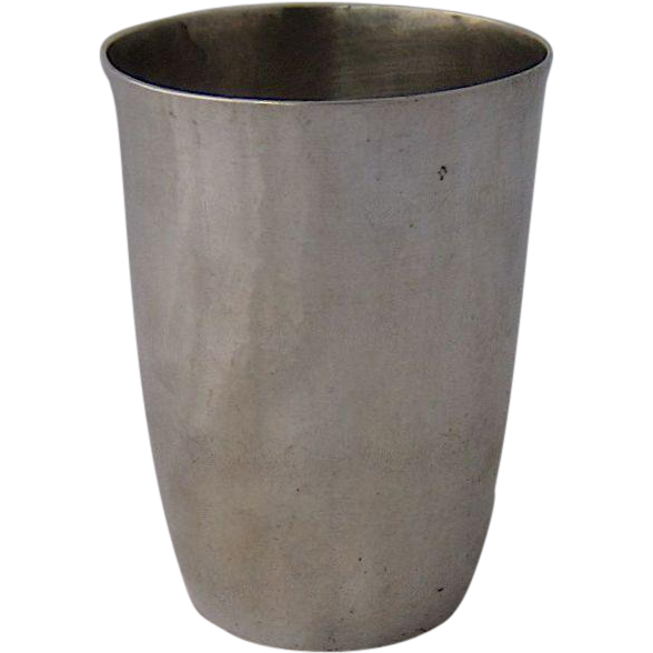 Early 1900s Hammered 800 Silver Beaker Wine Cup Murbach No Foot