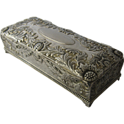1980s Godinger Silver Plated Jewelry Box Chrysanthemums