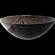 "Kosta Boda Sweden Large Tellus Bowl Black 12"""