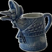 SOLD Mother Goose Creamer Schafer Vater Germany Porcelain Blue & White