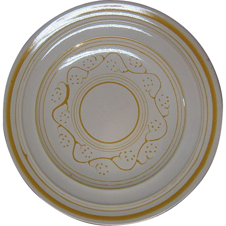 1930's Pacific Pottery Decorated ware Hostess dinner plates