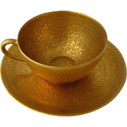 Pickard China 22K Gold Encrusted Cup & Saucer 1930s