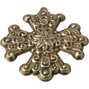 1974 Reed & Barton Sterling Christmas Cross Ornament/Pendant